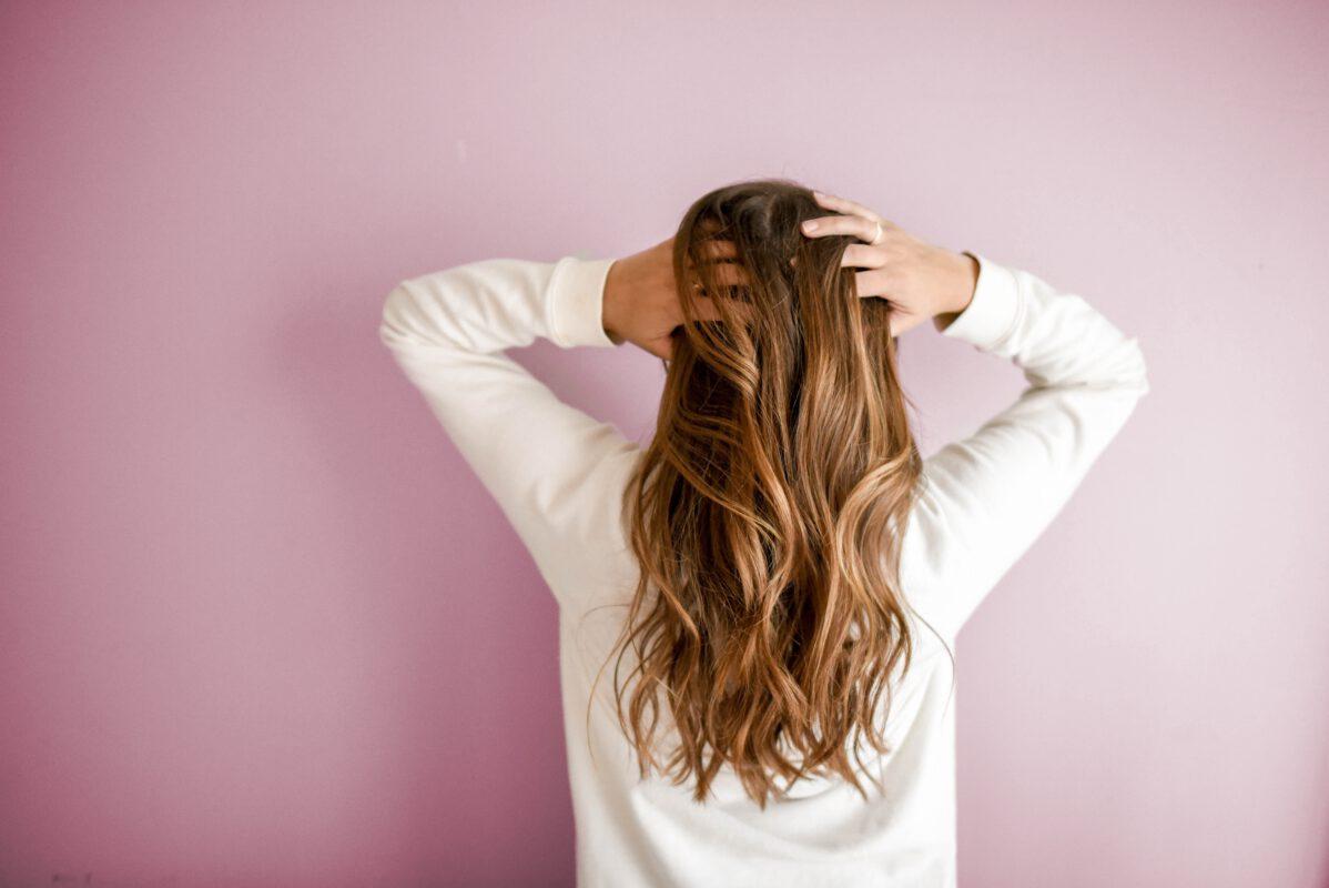 Hands in hair