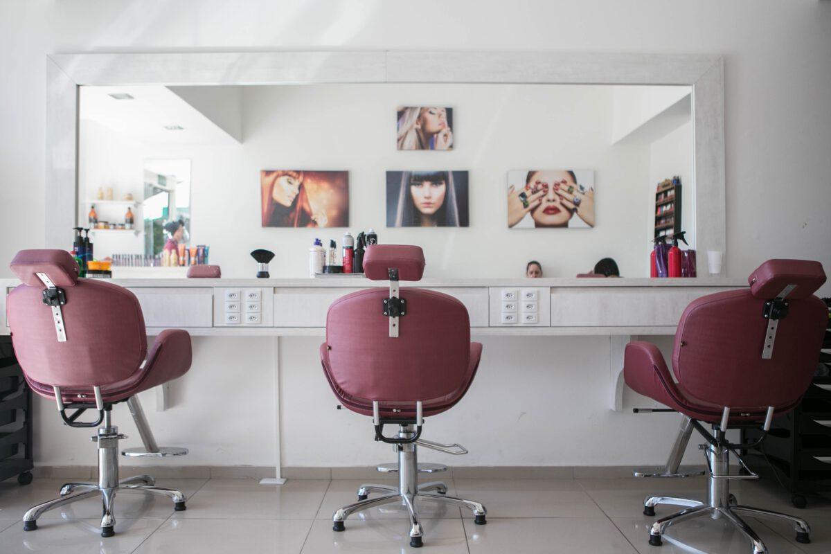 Typische haarsalon Interieur hairstylist